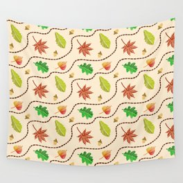 Autumn Leaf Wave Wall Tapestry
