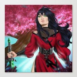 Sakuras at Sunrise Canvas Print