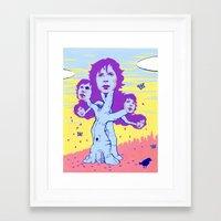 cassia beck Framed Art Prints featuring BECK by Glorifiedchimp