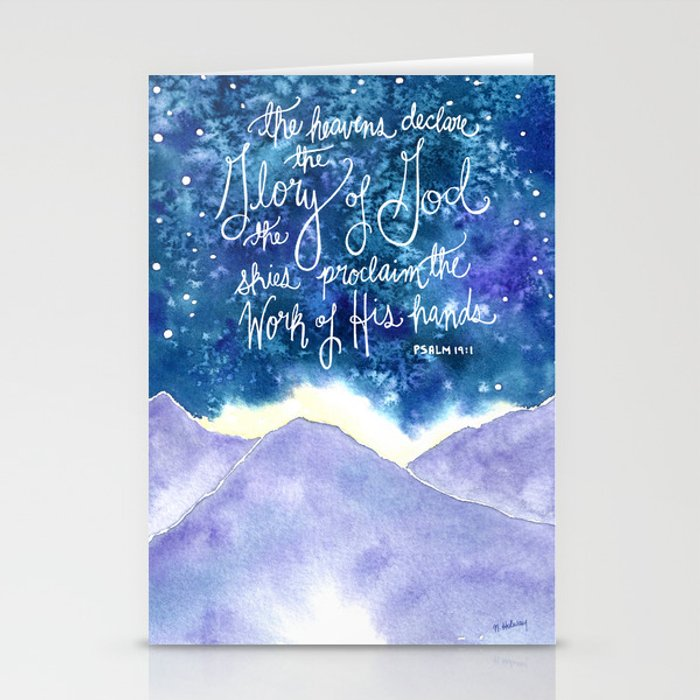 The Heavens Declare Stationery Cards
