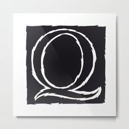 The Alphabetical Stuff - Q Metal Print