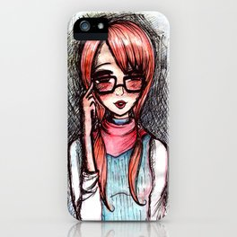 Nerdy ginger iPhone Case