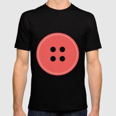 #63 Button Black Mens Fitted Tee MEDIUM