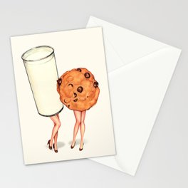 Milk & Cookie Pin-Ups Stationery Cards