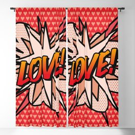 Comic Book LOVE! Blackout Curtain