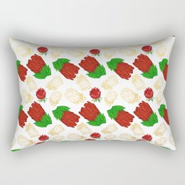 Beautiful Protea Pattern - Australian Native Florals Rectangular Pillow
