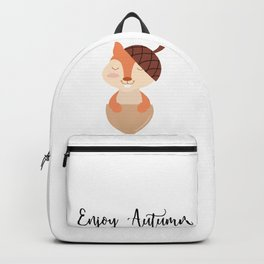 Little Squirrel Happy Autunm - Fall Begins Backpack