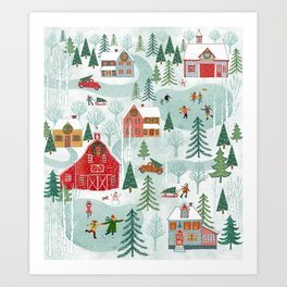 New England Christmas Art Print