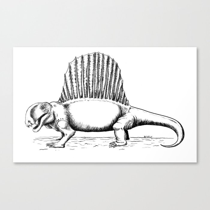 Dimetrodon Canvas Print