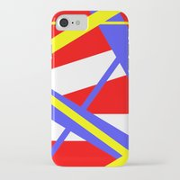 bands iPhone & iPod Cases featuring Bands 2 retro stripes by Brian Raggatt