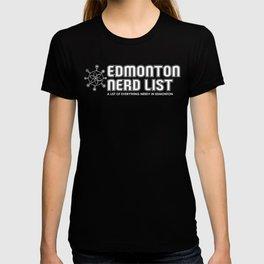 Edmonton Nerd List (B&W on dark) T-shirt