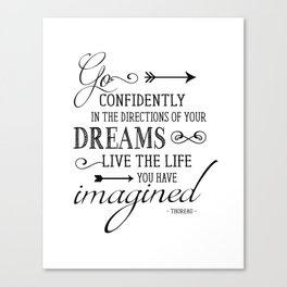 Henry David Thoreau Art Print - Go Confidently In the Direction of Your Dreams - Literary Quote Poster - Famous Poem Poster - Famous Poetry Art Print Canvas Print