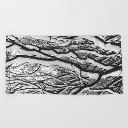 sleepy trees Beach Towel