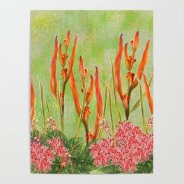 Tropical Floral Malaysian Border Print Poster
