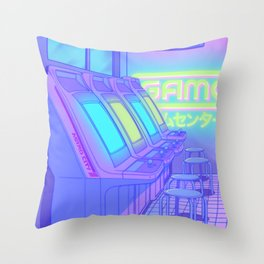 Midnight Arcade Throw Pillow