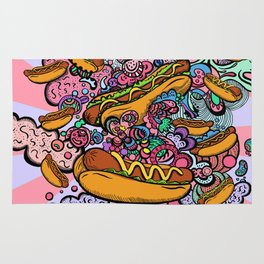Hot dogs attack Rug