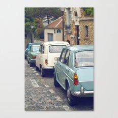 Vintage Parisian Streets Canvas Print