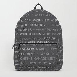 Gray Web Design Keywords Poster Concept Backpack