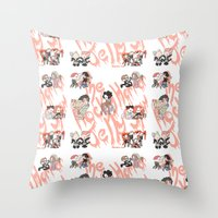 rocky horror picture show Throw Pillows featuring Rocky Horror Jelly Show by Nekodra