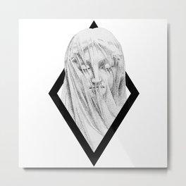 La Vergine velata (The Veiled Virgin) frame Metal Print
