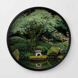 Serenity at a Japanese Garden Wall Clock