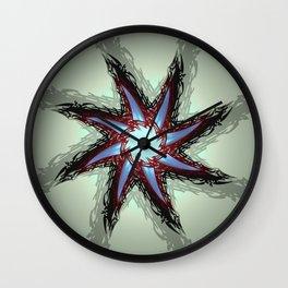 Tri-mirror Sun Wall Clock
