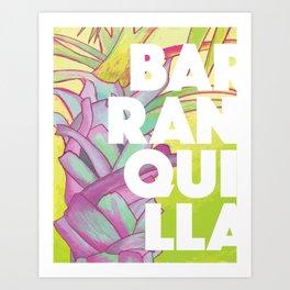 Baranquilla Travel Poster Art Print