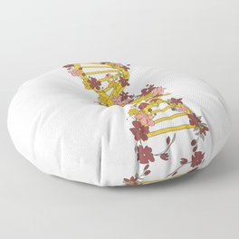 Floral DNA Floor Pillow