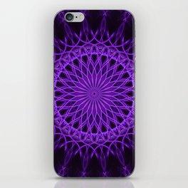 Pretty detailed purple mandala iPhone Skin