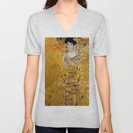 Gustav Klimt, The Lady in Gold, BLOCH BAUER Unisex V-Neck
