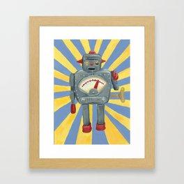 Cute robot toy Framed Art Print