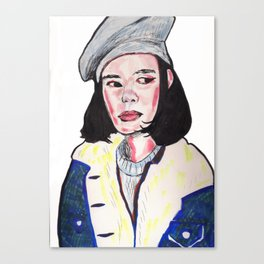 Side Eye Siren Canvas Print