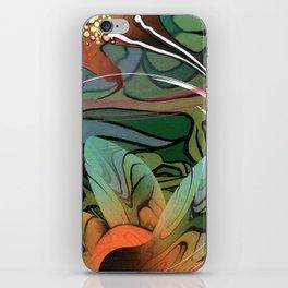 Hibiscus Green Tea iPhone Skin
