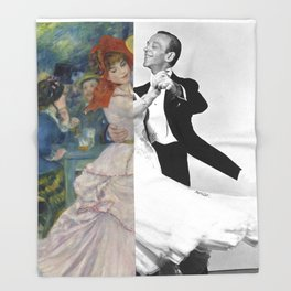 Renoir's Dance at Bougival & Fred Astaire (with Ginger Rogers) Throw Blanket