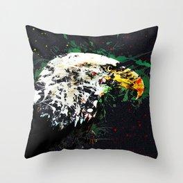 Bird eagle animal art abstract Throw Pillow
