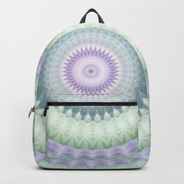 Heirloom Mandala in Pastel Green and Purple Backpack