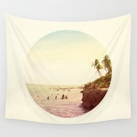 salt water Wall Tapestries featuring Salt Water Dreams by M Studio
