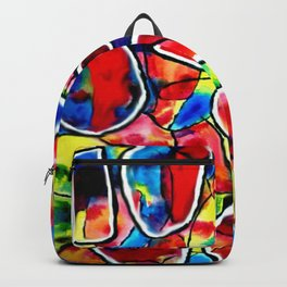 Dance of Life. Colored cells Backpack