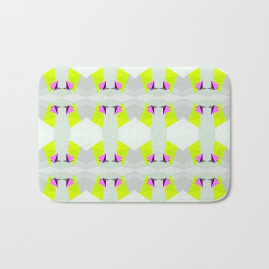 Polygon Neon Bath Mat