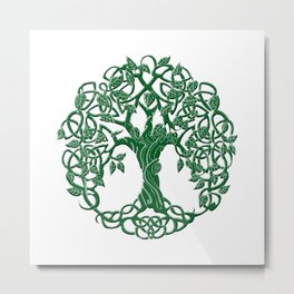 Tree of life green Metal Print
