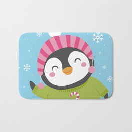 Cute Penguin Bath Mat