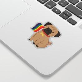 LGBT Gay Pride Flag Pug - Pride Gay Sticker