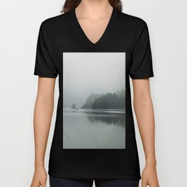 Fog - Landscape Photography Unisex V-Neck