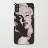 monroe iPhone & iPod Cases featuring Monroe by Juliana Marie