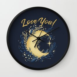 Love you to the moon... Wall Clock