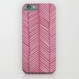 Lipstick Herringbone iPhone Case
