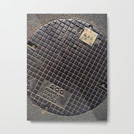 Manhole Cover Metal Print