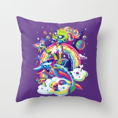 Rainbow Apocalypse Throw Pillow