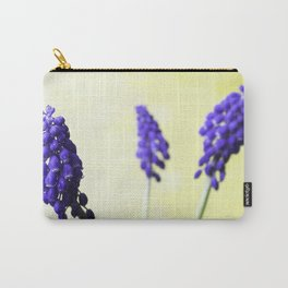 Muscari on Lemon Yellow Carry-All Pouch
