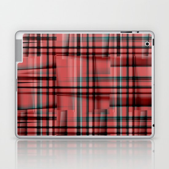 Pattern red 1 Laptop & iPad Skin